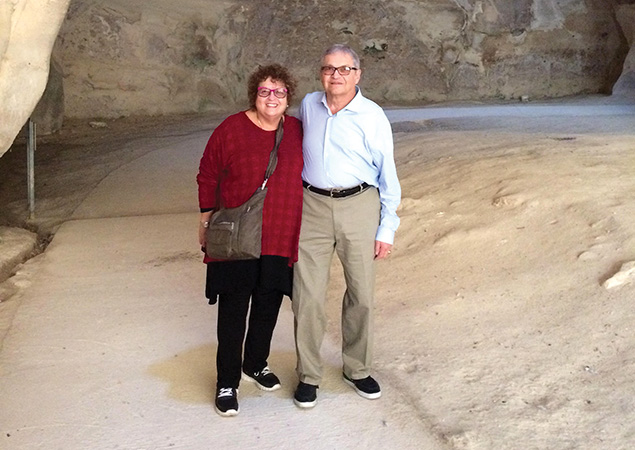 Carol and Jay Marlin on their last trip to Israel in 2016. Jay Marlin died in May of COVID-19.