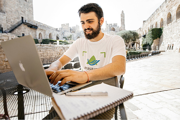 A student takes part in the Masa Israel Journey Gap Program in Israel.