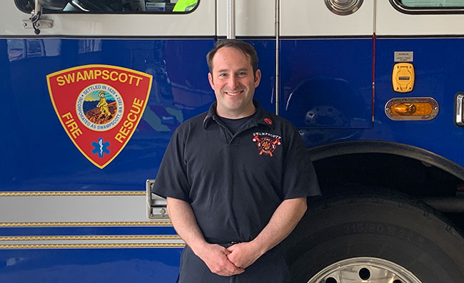 Lieutenant Todd Seligman of the Swampscott Fire Department.