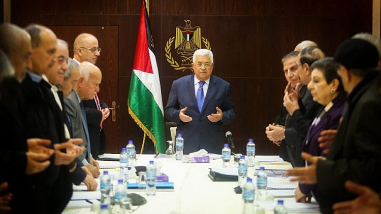 Palestinian Authority leader Mahmoud Abbas meets with the executive committee of the Palestine Liberation Organization. Photo: Flash90
