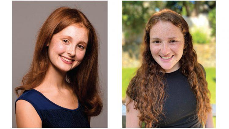 Ariel Greenberg, left, and Sofia Vatnik