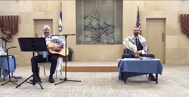 Shirat Hayam congregants will tune in online this year on the High Holidays to listen to Rabbi Michael Ragozin (right), and Cantor Alty Weinreb (left).