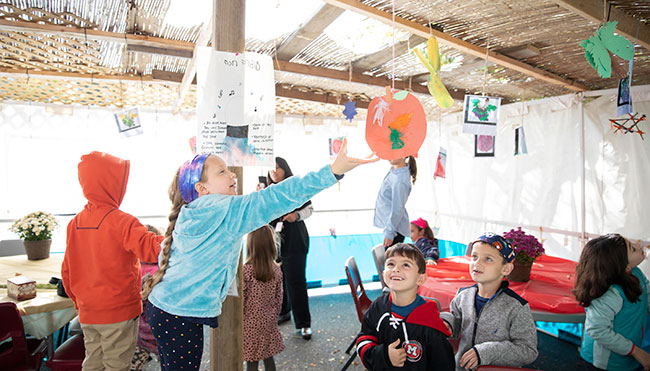 Celebrating Sukkot at Epstein Hillel this school year, during a pandemic, may look very different. / Courtesy Epstein Hillel