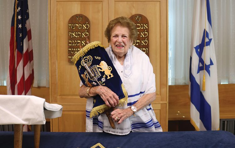 Rose Brown, who is 100, recently marked her bat mitzvah in Revere.