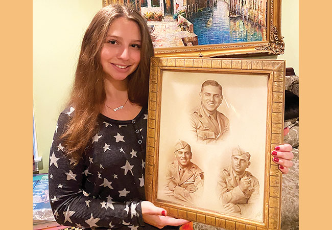 "Sabrina Glaser, of Needham, wrote about her grandfather's time as a Jewish POW in a forced labor camp in Germany during World War II. The story is part of an exhibit called ""Honoring Jewish Veterans"" on the website of the Lappin Foundation."