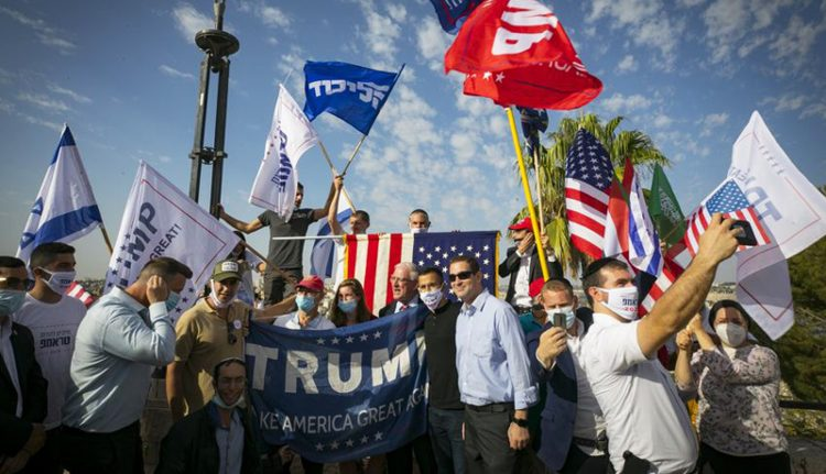 Israelis at a pro-Trump rally last month in Jerusalem.