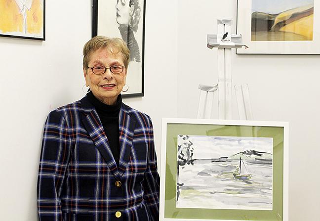 Jack Satter House resident Sheila Golden, inside her Lynn art studio, participates in Vitalize 360 at Hebrew SeniorLife.