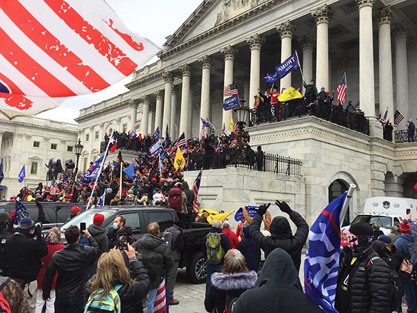 Trump supporters at the siege of the Capitol on Jan. 6. Photo: Wikipedia