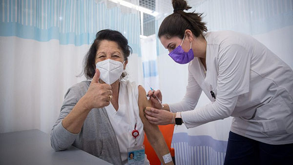 In Israel, 75 percent of its citizens over 60 have received a COVID-19 vaccination. Photo: Miriam Alster/Flash90