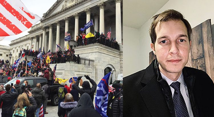 U.S. Rep. Jake Auchincloss was in his office when the mob took over parts of the Capitol building on Jan. 6.