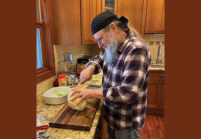 Phil Weiss in the kitchen. Photo: Nomi Davidson