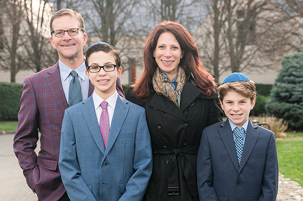 The Dubow family, left to right, Jonathan, Jake, Rachelle and Charlie.
