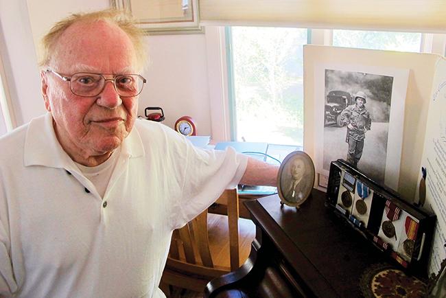 Robert Sanford of Marblehead, who fled Communist Romania, is a Jewish veteran of the Korean War. Photo: Ethan M. Forman/Journal Staff