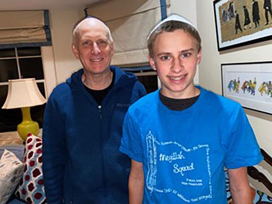 David Williams, left, and his son Eli