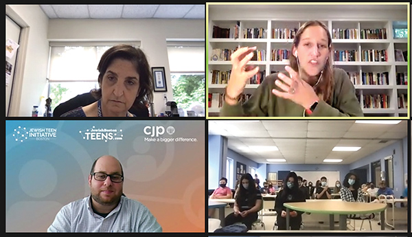 Head of School Amy Gold, Rachel Fish and Brett Lubarsky, give students at Epstein Hillel School frameworks and tools to help them respond to what they see and hear online.