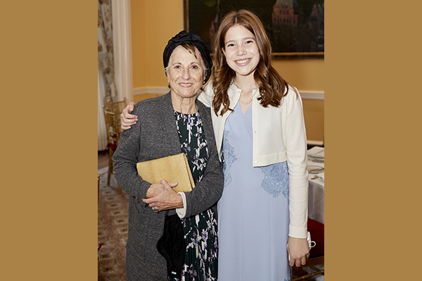 Rina Spence with her granddaughter, Eliza Spence, who recently marked her bat mitzvah.
