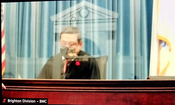 Judge Myong Joun at Khaled Awad's arraignment.