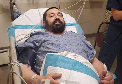 Rabbi Shlomo Noginski in stable condition after being stabbed outside of Boston's Shaloh House Jewish Day School. Photo: Chabad.org