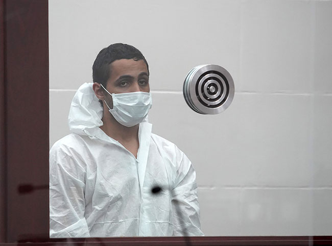 Egyptian nationalist Khaled A. Awad, 24, is charged with stabbing Rabbi Shlomo Noginski in Brighton on July 1. /Photo: Mary Schwalm/Boston Herald/Pool